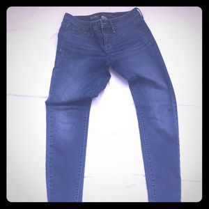 Blue jeans mid rise skinny
